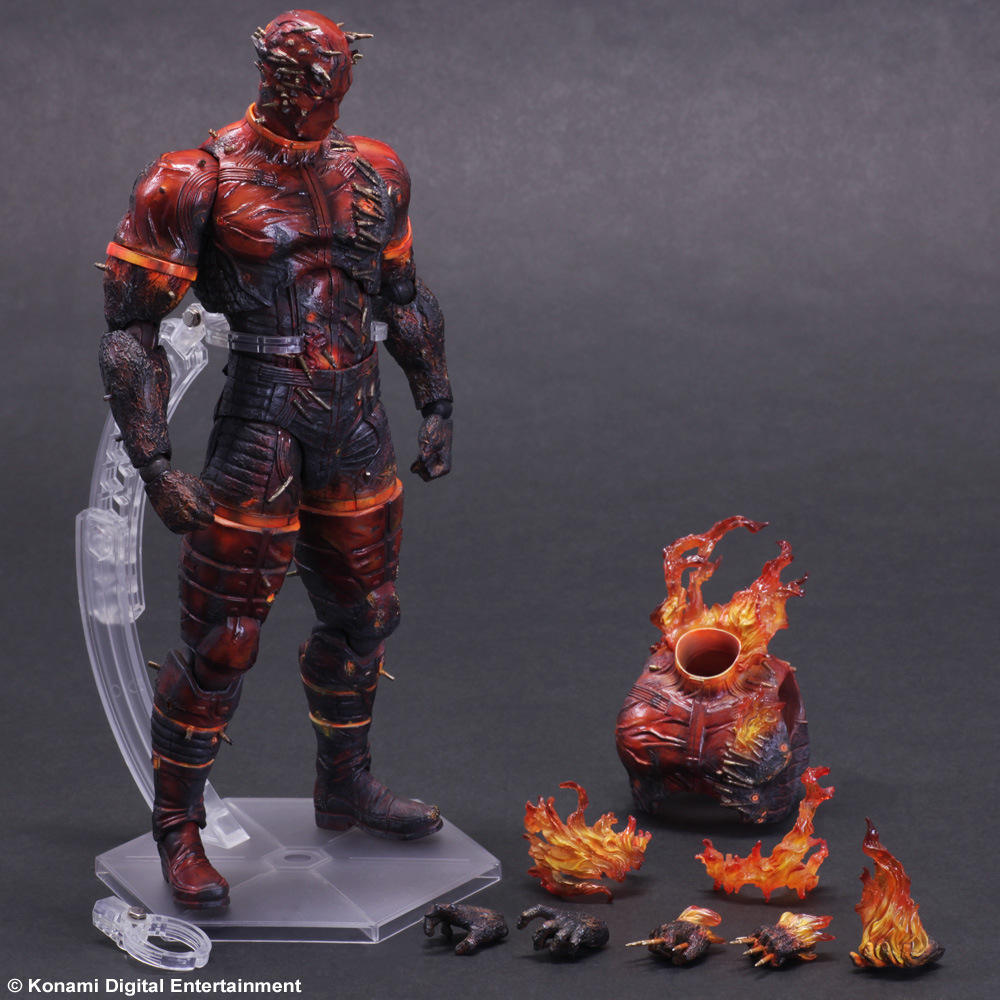 Metal Gear Solid Action Figure Toys Man On Fire Playarts Kai Anime Games Toy Metal Gear Solid V The Phantom Play Arts Kai Volgin new square enix action figure toys metal gear solid snake v the phantom pain kai man on fire toys gift