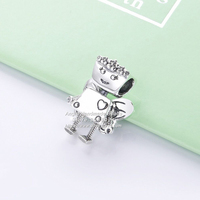 2019 NEW Spring S925 Sterling Silver Butterfly Robot Charms Beads Fit European DIY Jewelry Bracelets & Necklaces