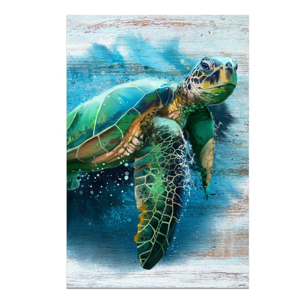 Abstract Sea Turtle Art