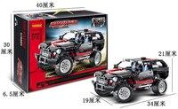 Decool 3341 Land Cruiser LC200 Blocks Brain Game SUV Assembling Toys Self Locking Bricks Car Model