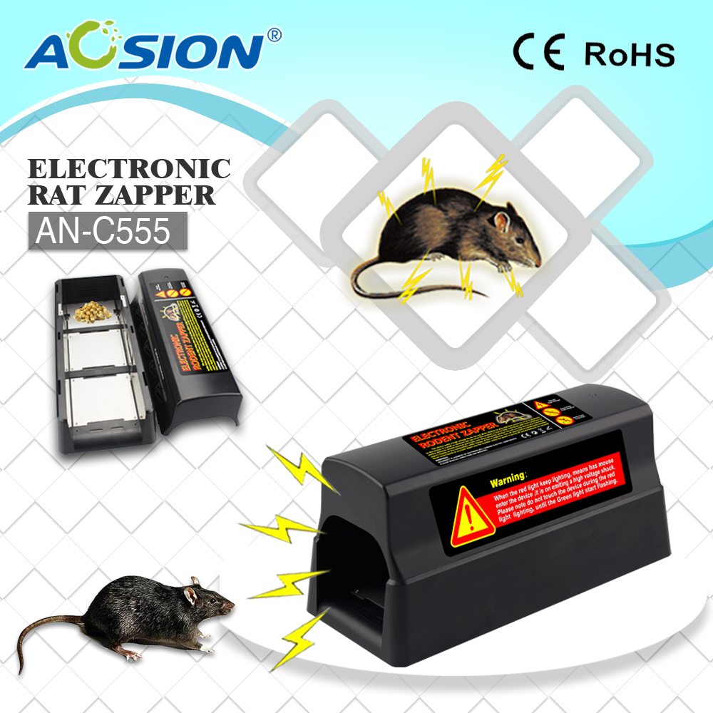 Aosion human electroni hight voltage mouse trap killer rat killer rat zapper with adaptor AN C555