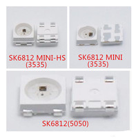 De 100 a 1500 Uds. SK6812  píxeles de Chip LED 5050/3535 SMD(similar WS2812B) direccionable individualmente  Digital sk6812 RGB a todo Color DC5V
