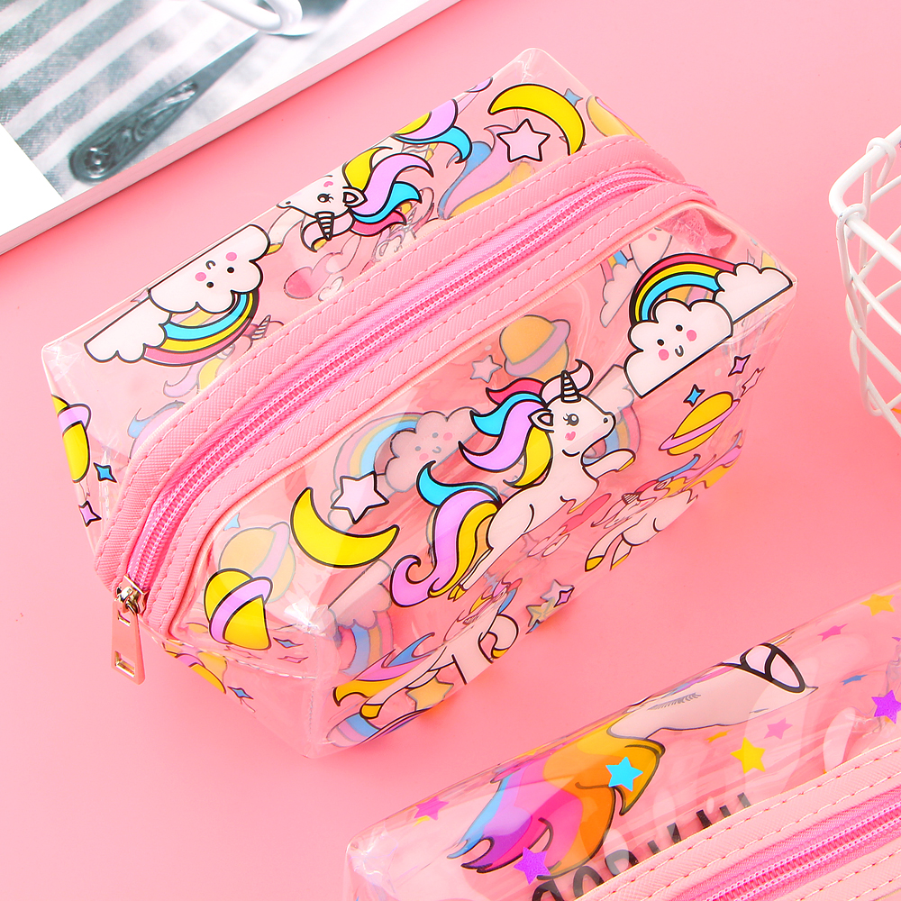 Unicorn Transparent Pencil Case Kawaii School Supplies Stationery Gift Cute Pencil Box Office School Tools Pencil Cases unicorn pencil case kawaii school supplies bts stationery gift cute pencil box pencilcase office school tools pencil cases tools