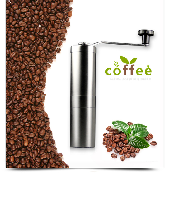 coffee grinder with ceramic Burr manual coffee maker Hand-operated pepper grinder stainless easy clean up