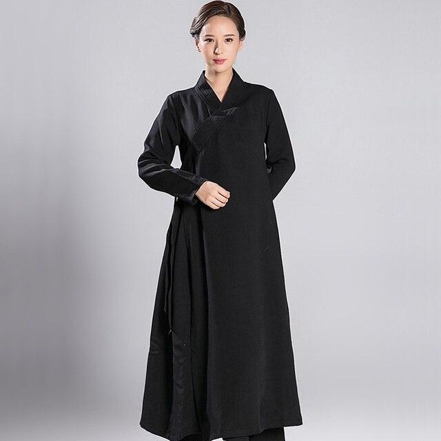 Тай Чи одежда Униформа для женщин халат Китайский zen Медитация одежда TA565