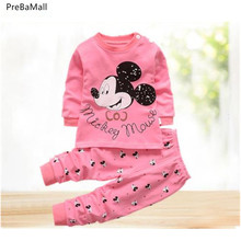 Newborn Baby Clothes Set Autumn Cotton Baby Girls Clothes 2PCS Cartoon Baby Boy Clothes Unisex Kids Clothing Sets Bebes E0020