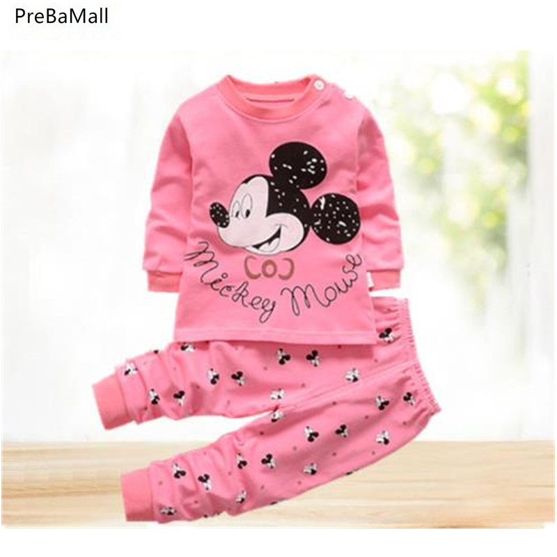 Newborn Baby Clothes Set Spring Cotton Baby Girls Clothes 2PCS Cartoon Baby Boy Clothes Unisex Kids Clothing Sets Bebes E0020