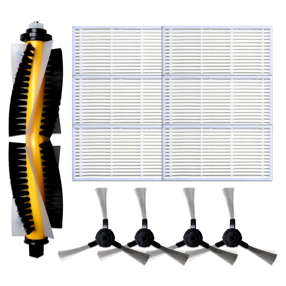 1 Roller Brush +4 Side Brushes +6 Filters For Proscenic 780T 790T Vacuum Cleaner Parts Replacement Filter Brushes Accessories