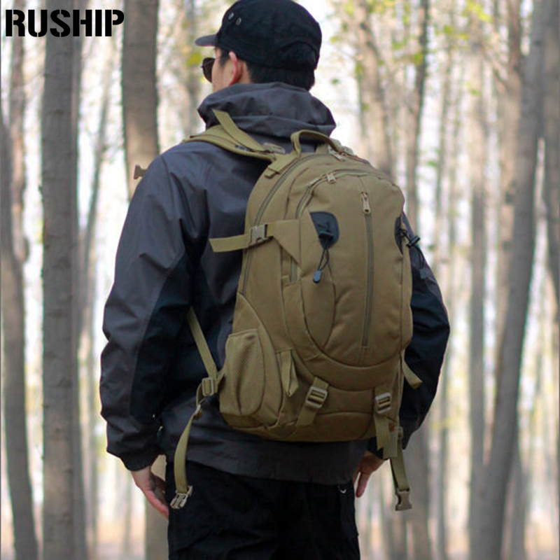 ФОТО  Hot Outdoor Climbing  waterproof Nylon 40L Bags Tactical Military Explorer Hunting Camping Hiking Backpack  Molle system