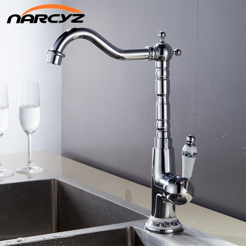 Novo Estilo bacia Do Banheiro Do Cromo torneira pia da cozinha torneira de bronze do vintage bacia mixer água tap torneira banheiro Torneira XT-129