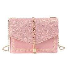 British Fashion Simple Small Square bag Womens Designer Handbag 2019 High-quality PU leather Tassel Chain Shoulder bags