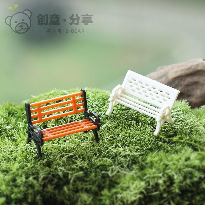 人工家具椅子妖精ガーデンミニチュア用苔ホームdeocrationアクセサリーgnome盆栽おもちゃ手作り工芸