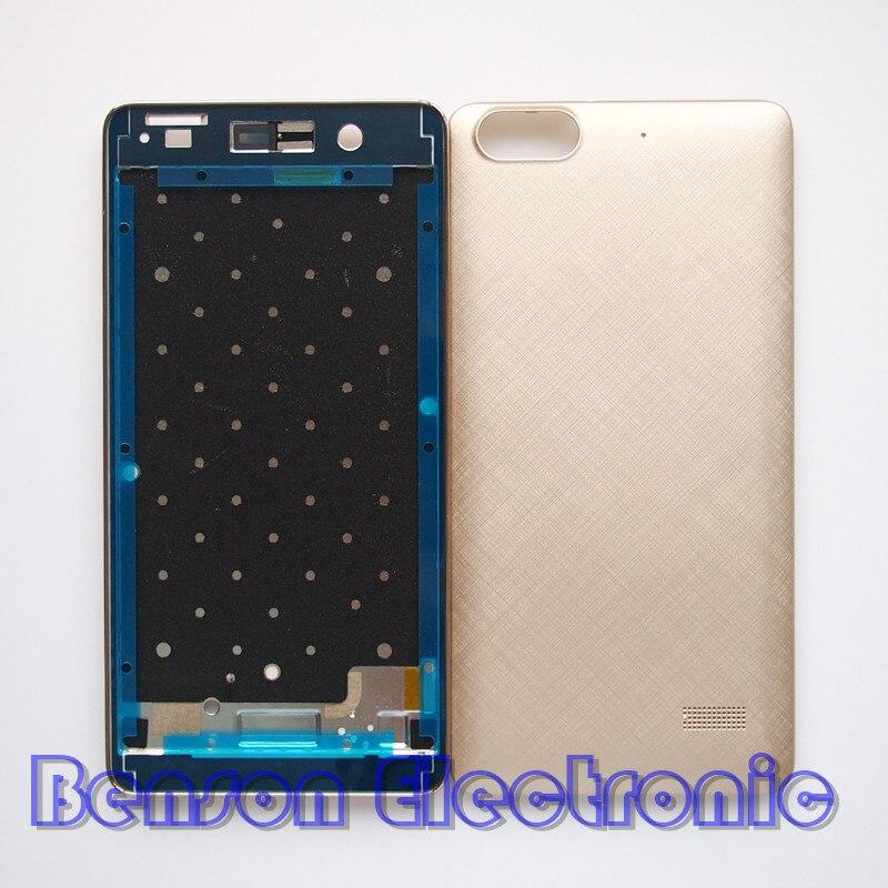 imágenes para Baansam nueva holder lcd marco frontal case cubierta de batería de la contraportada para huawei honor 4c con 3 m adhesivo + volumen de energía botones