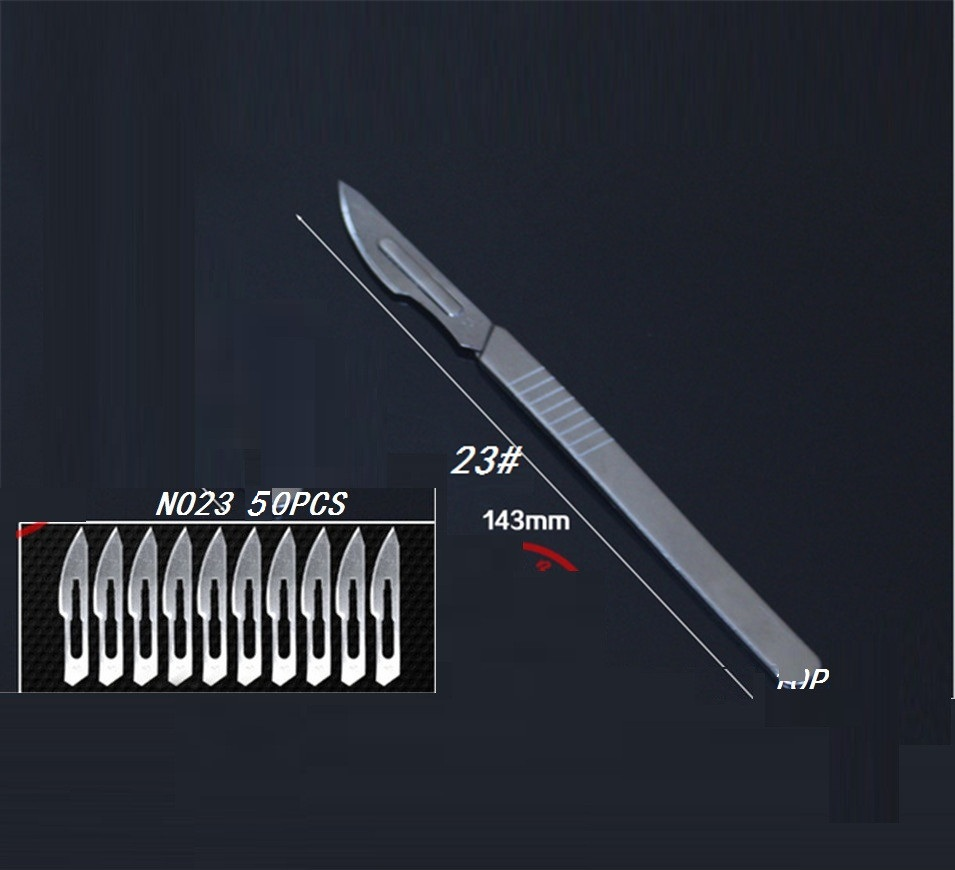 Free shipping 50pcs blade+NO23 Stainless steel Scalpel, for cutting electronics repair tools PCB Circuit Board
