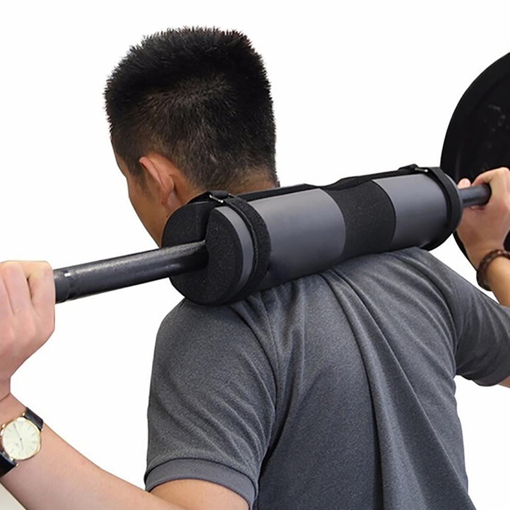 Pink Foam Barbell Pad Cover For Gym Weightlifting Cushioned Squat Shoulder Back Support Neck Shoulder Protective Pad Black