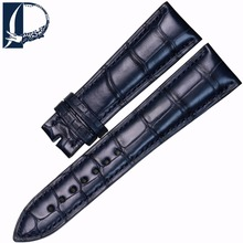 Pesno for Blancpain VILLERET Superior Crocodile Leather Watch Band 20mm 22mm Dark Blue Watchstrap Men Watch Accessory