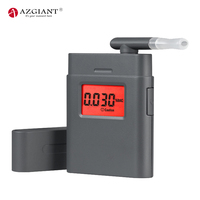AZGIANT Digital Breath Alcohol Tester Include 5 Mouthpieces MCU control LCD Display with Red Backlight Battery Saved Design
