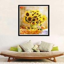 diamond painting Sunflower diy Diamond Painting full drill Rhinestone Embroidery Kit Mosaic 40x40cm
