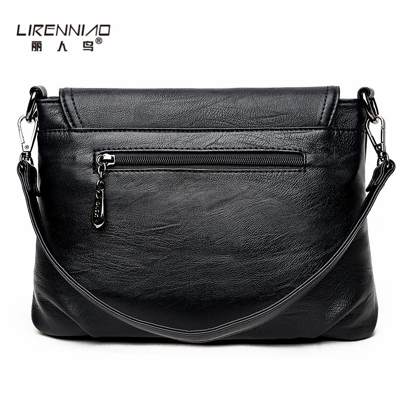 de couro preto de alta Modelo Número : Women Messenger Bags