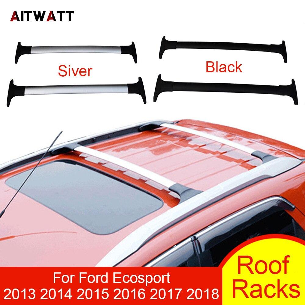 Багажник для Ford Ecosport 2013 2014 2015 2016 2018 2017 алюминий сплав Боковые Бары поперечные рельсы держатель для багажа на крышу стайлинга автомобилей