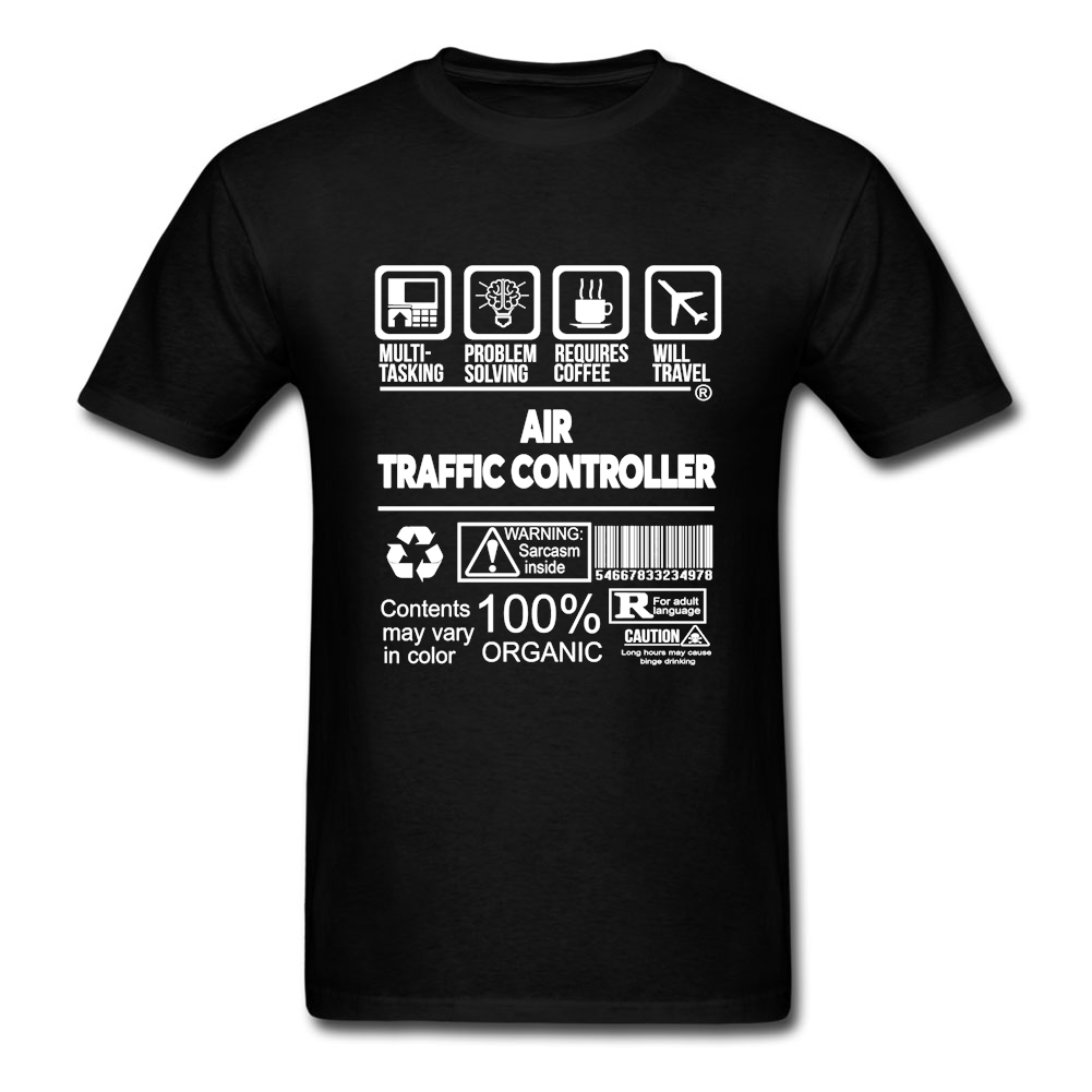 Wholesale Dropshippers Air Traffic Controller Tees For Men Tees 3XL Cotton Crew's Neck  Tees