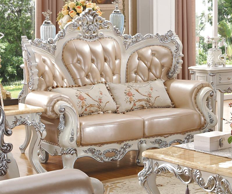 Carved Wood Sofa Leather Sofas French Garden New Classic Living Room Sofa In  Living Room Sofas From Furniture On Aliexpress.com | Alibaba Group