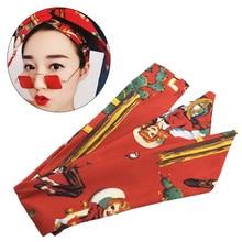 все цены на New Print Turban Headband for Women Hair Accessories Stretch Hairbands Girls Headwear Headbands Head Wrap Band Bandanas онлайн