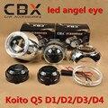 """Фар автомобиля 3.0 """"Koito Q5 HID Би-ксенон Объектив Проектора D1/D2/D3/D4 LHD + Маски MAX + яркий LED Angel Eye Halo Кольцо 2 ШТ./ЛОТ"""