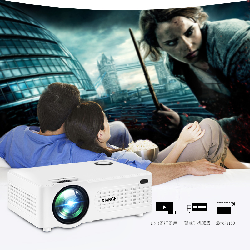 Portable Mini Projector Home Theater LED&LCD Proyector 2200 lumens With HDMI/USB/SD/VGA/AV Interface airgracias elasticity jeans men straight denim casual men long pants trousers top brand zipper fly ripped jean plus size 28 38