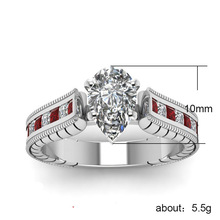 Cubic Zirconia Rings For Women Water Drop Type Trendy Fashion Alloy Romantic Wedding Party Rings Jewelry Bijouterie Wholesale цена и фото