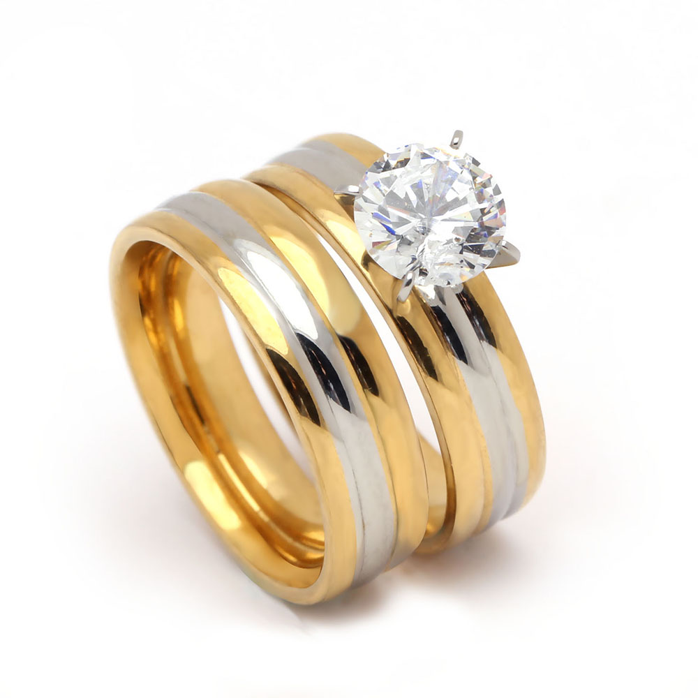 popular stainless steel wedding ring sets-buy cheap stainless