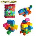 UTOYSLAND Reusable 74-Piece / set Plastic Kids early Educational Building Blocks Bricks Toys DIY Bloks Toy Set