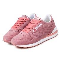 Mulheres Marca Esporte Ao Ar Livre Luz Running Shoes Lace Up Sneakers Respirável Amortecimento Anti Colisão PU Sapatos de Couro Das Mulheres Da Sapatilha