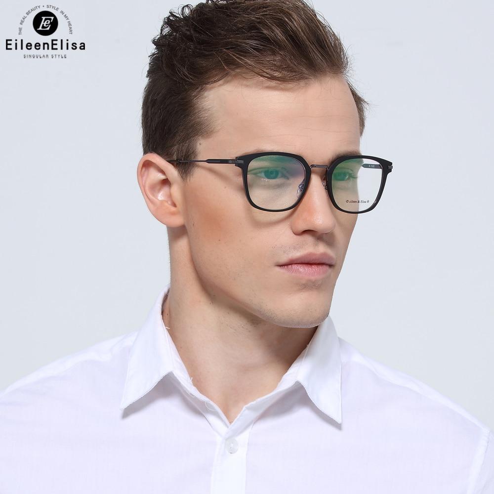 EE Men Titanium Eyeglasses Frames Full Frame Reading Spectacles Fashion Myopia Glasses Lunette Lumiere Bleue Ordinateur bowtie decor blue black plastic full rim spectacles glasses eyeglasses frame