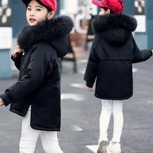 2018 Winter Girls Duck Down Coat Children Long Natural Fur Hooded Jacket Kids Outerwear Girls Thick Warm Windbreaker Snowsuit 12