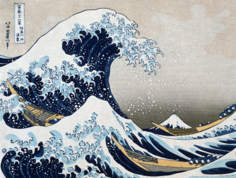 FamousThe Great Wave Katsushika Hokusai oil paintings wall art home deco handmade canvas - Kixhome store