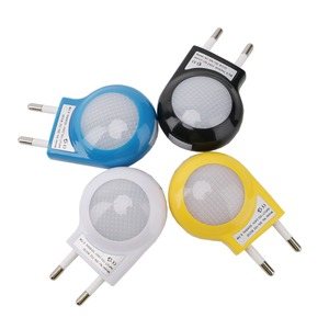 "Image 3 - מיני LED חילזון לילה אור אוטומטי לילה מנורת תאורה מובנה חיישן בקרת אור קיר מנורת עבור תינוק ילדים שינה האיחוד האירופי/ארה""ב Plug"