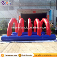 Giant Inflatable Obstacle Course Racing tunnel for outdoor sport game