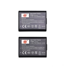 DSTE 2pcs LP E10 LP E10 lp e10 7 4v 2100 mAh Digital Camera Battery for