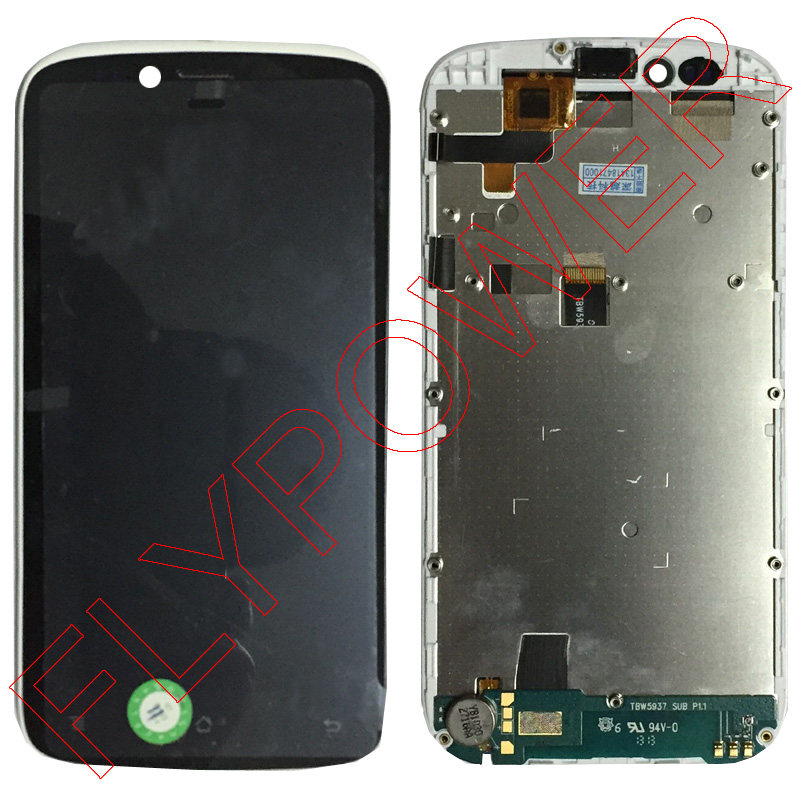 For ARCHOS 53 Platinum K-touch S2t LCD screen display with touch digitizer screen + Frame assembly free shipping; 100% Warranty