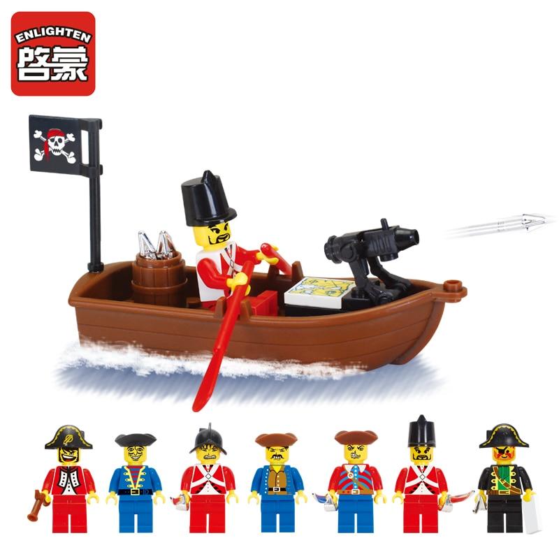 Opplys Pirates Educational Building Blocks Leker For Kids Kids Gifts - Bygg og teknikk leker - Bilde 3