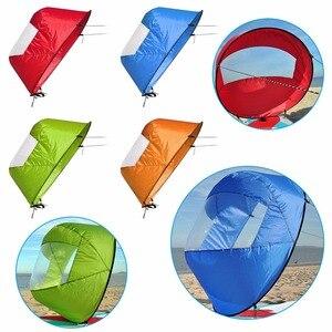 """Image 2 - 42 """"/108cm vela pieghevole Kayak barca vento vela Sup Paddle Board vela canoa corsa pagaia barche a remi vento finestra trasparente"""