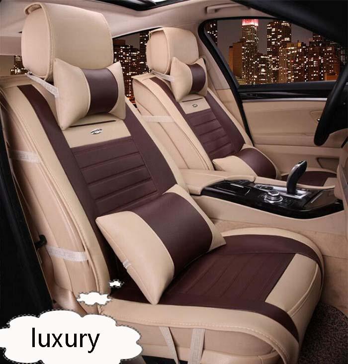 Авто сиденья полные комплекты Универсальный Fit 5 сиденье внедорожник седанов спереди/на заднем сиденье коврики автомобильные искусственна...