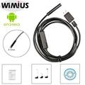 Wimius 8.5mm Endoscópio Endoscópio Android Full HD 720 P USB 2.0 Cabo Tubo 6LED 2MP Mini Inspeção Câmera À Prova D' Água câmera 5 M/7 M
