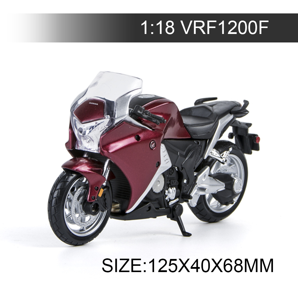 Maisto 1:18 Motorcycle VRF 1200F Red Black Metal Diecast Models Motor Bike Miniature Race Toy For Gift Collection