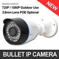 Bala 720 P 1080 P Ao Ar Livre Câmera IP Com POE Opcional Dia cor de visão noturna 1.0mp câmera de 2mp p2p nuvem iphone android vista