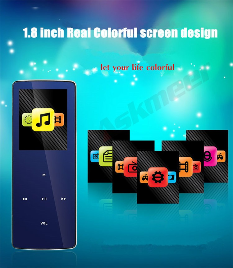 ONN W6 Rechargeable 8GB Bluetooth MP3 Player Mini Sport Mp3 HIFI Lossless Music Media Audio Player with 1.8 TFT Screen Fm Radio (5)