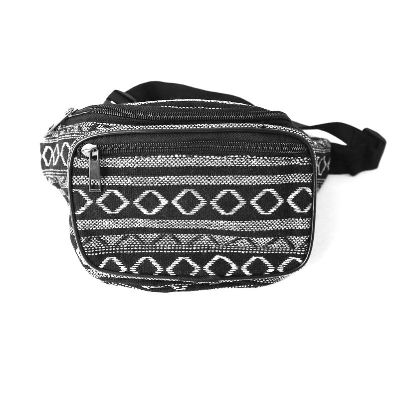 Unisex Boho Style Sports Hiking Running Belt Waist Bag Pouch Zipper Fanny Pack
