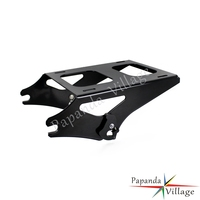 Papanda Motorcycle Black Steel Detachable Two up Pack Passenger Luggage Rack for Harley Road King Street Glide FLHRC FLHRSE FLHX