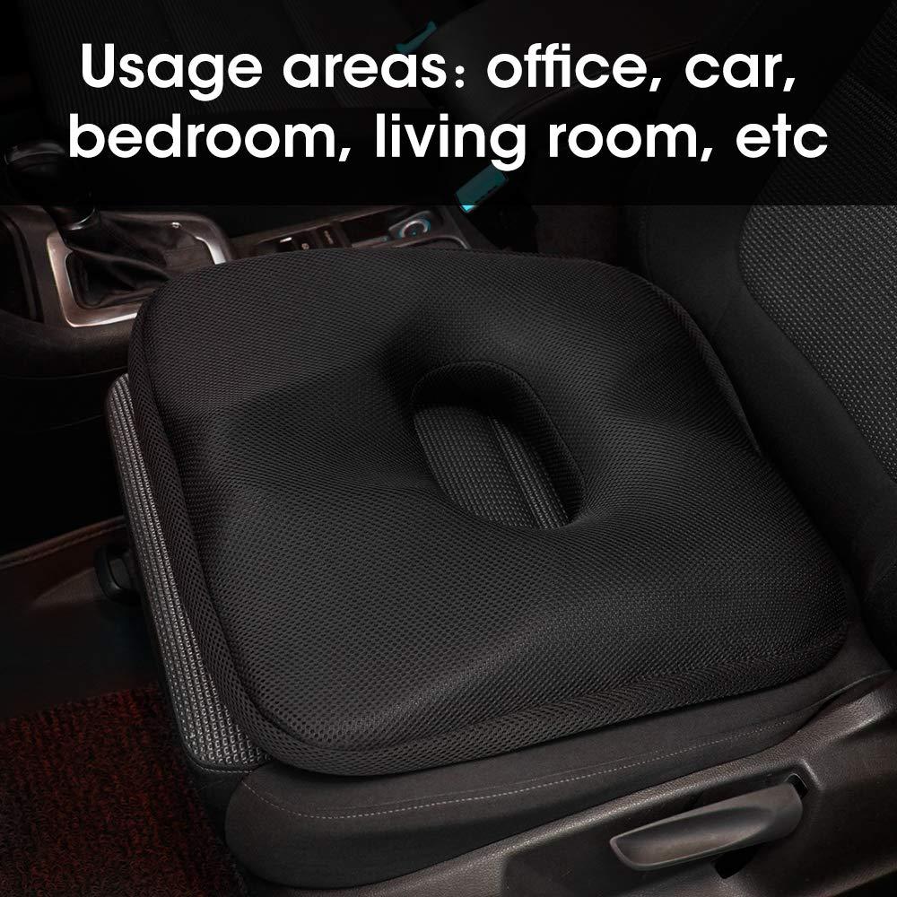 Coussin d'hémorroïde d'été coussin de siège en Gel de voiture Coccyx en mousse à mémoire de forme pour chaise de bureau en Coccyx
